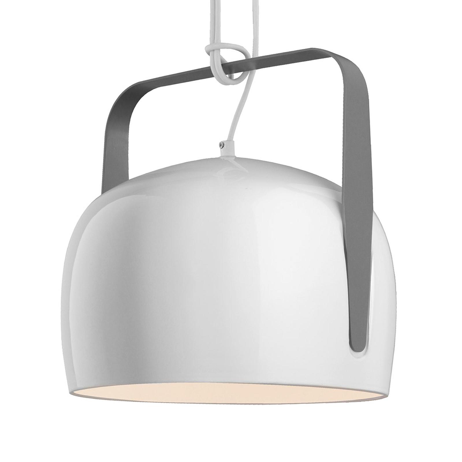 Karman Bag - biała lampa wisząca, Ø 32 cm, gładka