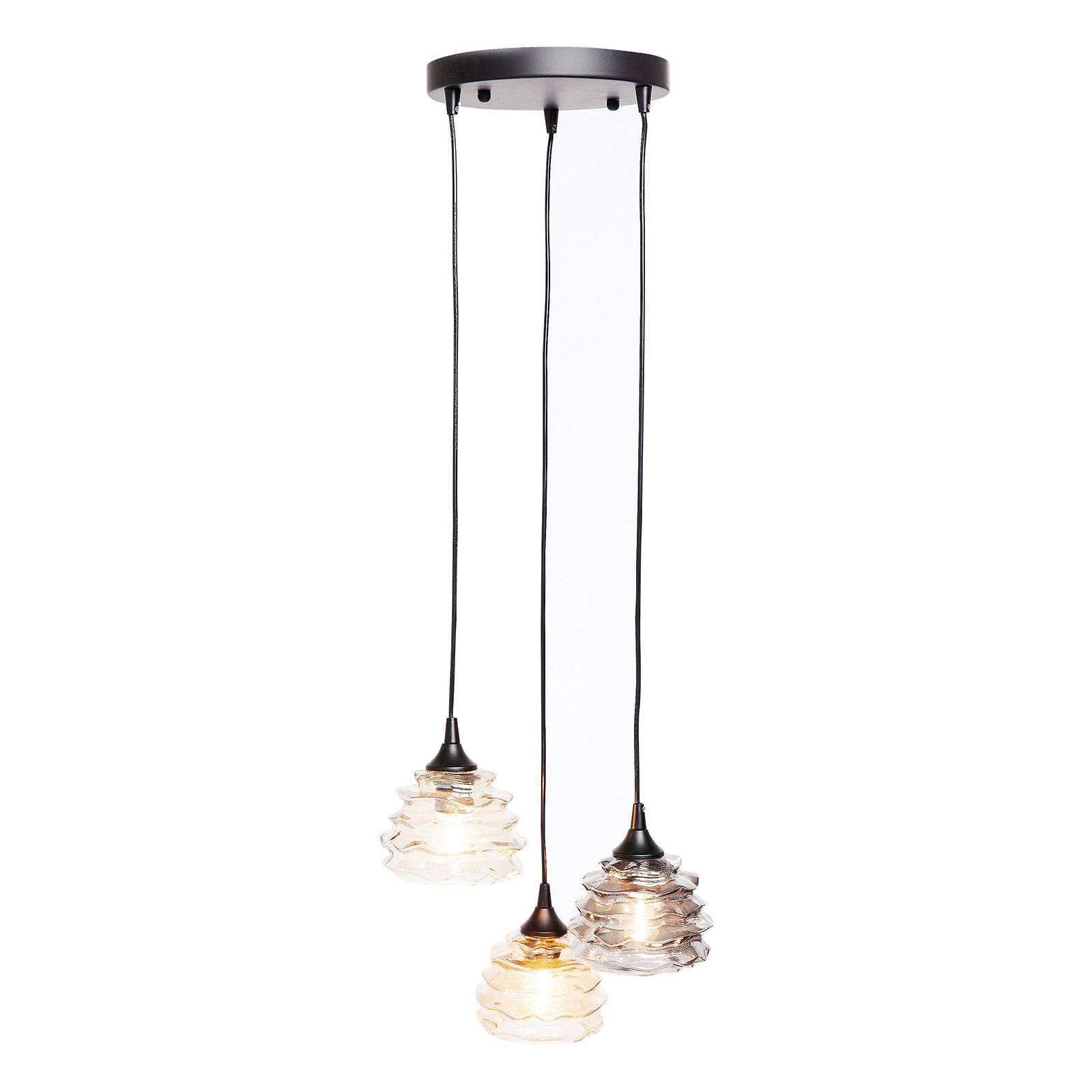 KARE Ruffle Visible hanglamp 3-lamps rond