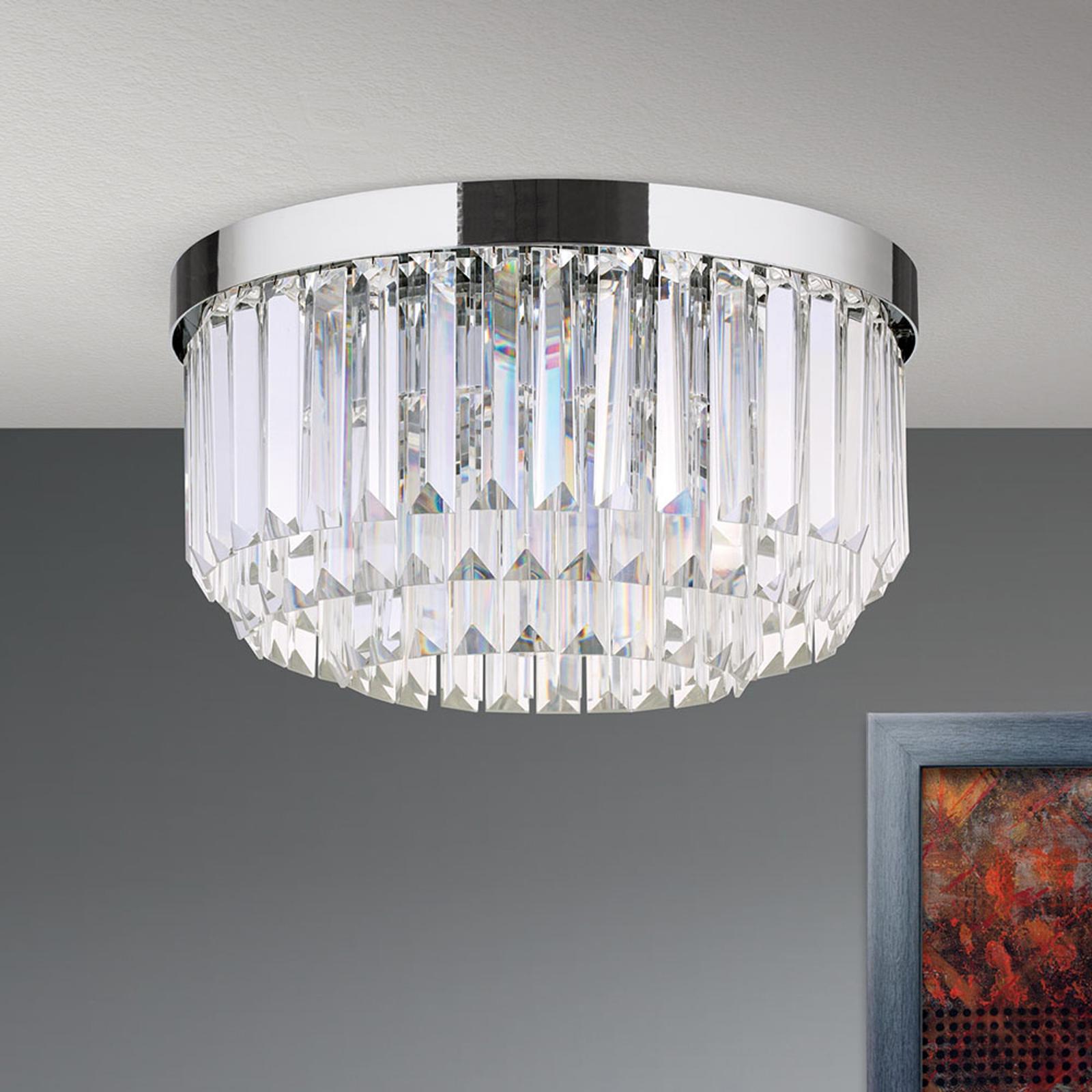 Lampa sufitowa LED Prism, chromowa, Ø 35 cm