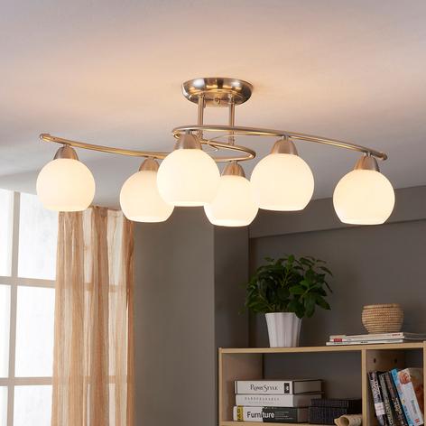 Lámpara de techoSvean para comedor, 6 cabezales