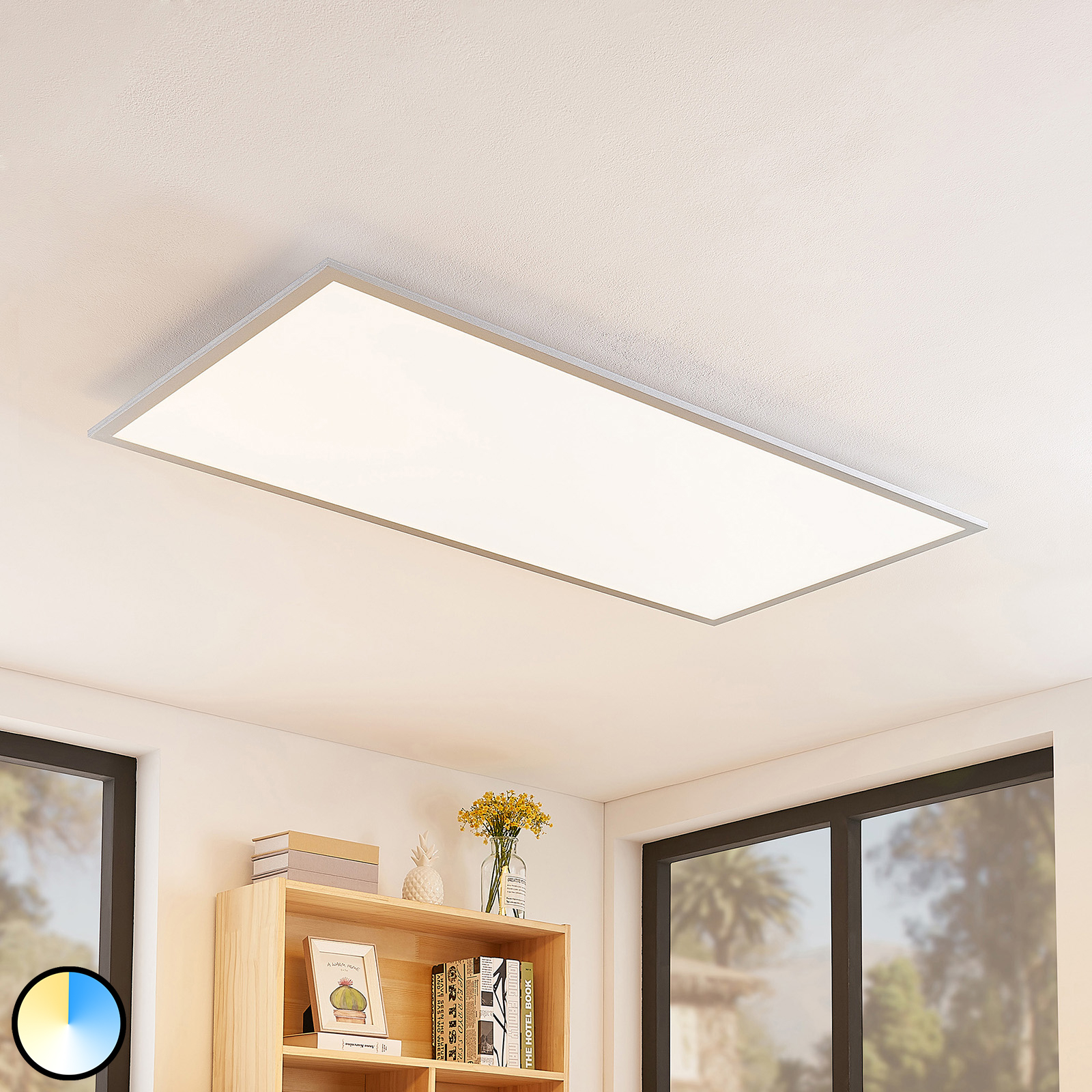 Lindby Zento LED-Panel, CCT, Fernbedienung, dimmb.