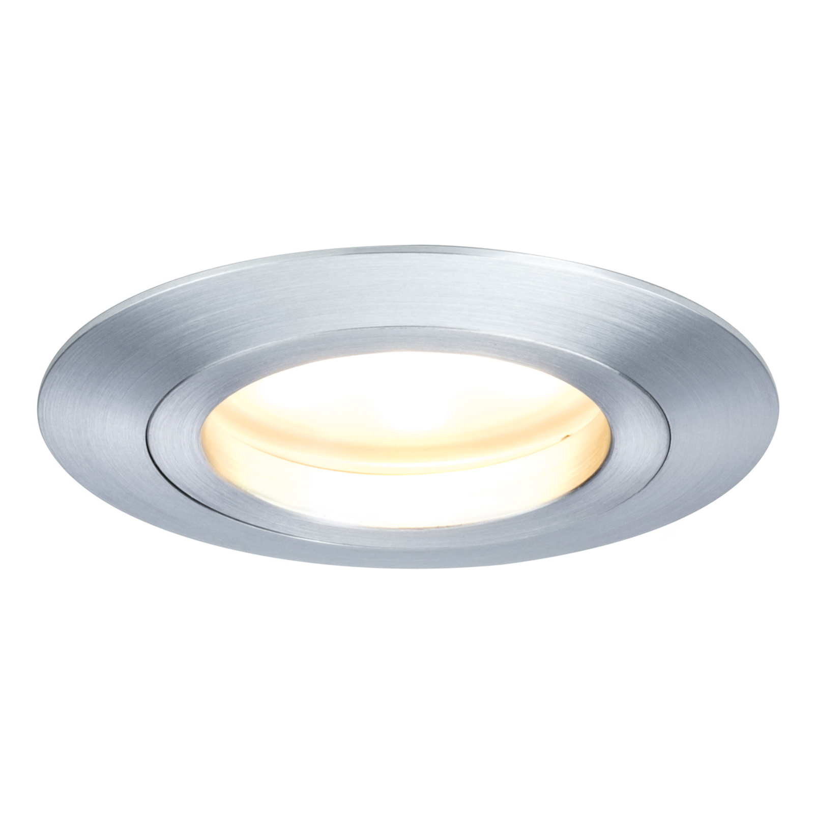 Tredelt sett LED-lampe Coin rund IP44 alu dreid