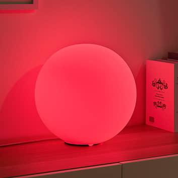 Lindby Smart LED-RGB-bordslampa Rhona, sfärisk