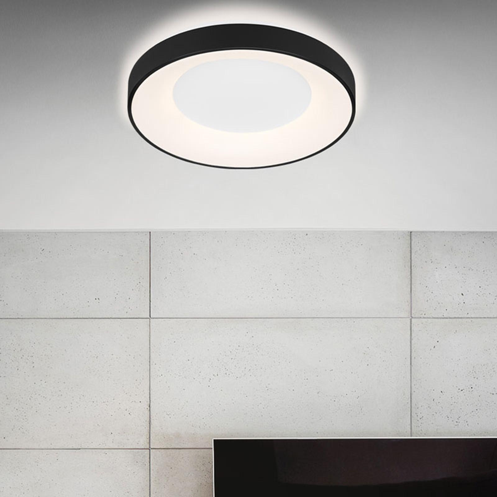 LED-Deckenleuchte Rondo CCT Fernbedienung, schwarz