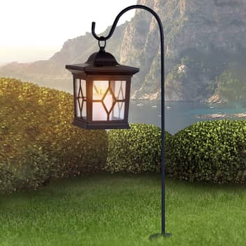 Solární svítidlo Eboni v černé, ve tvaru lucerny