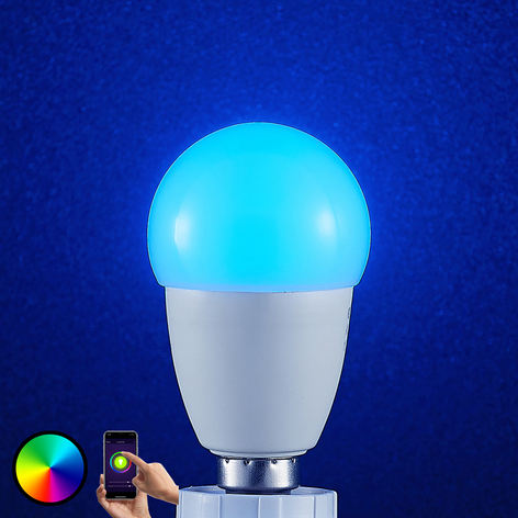 Lindby Smart ampoule LED WiFi E14 4,5W goutte RVB