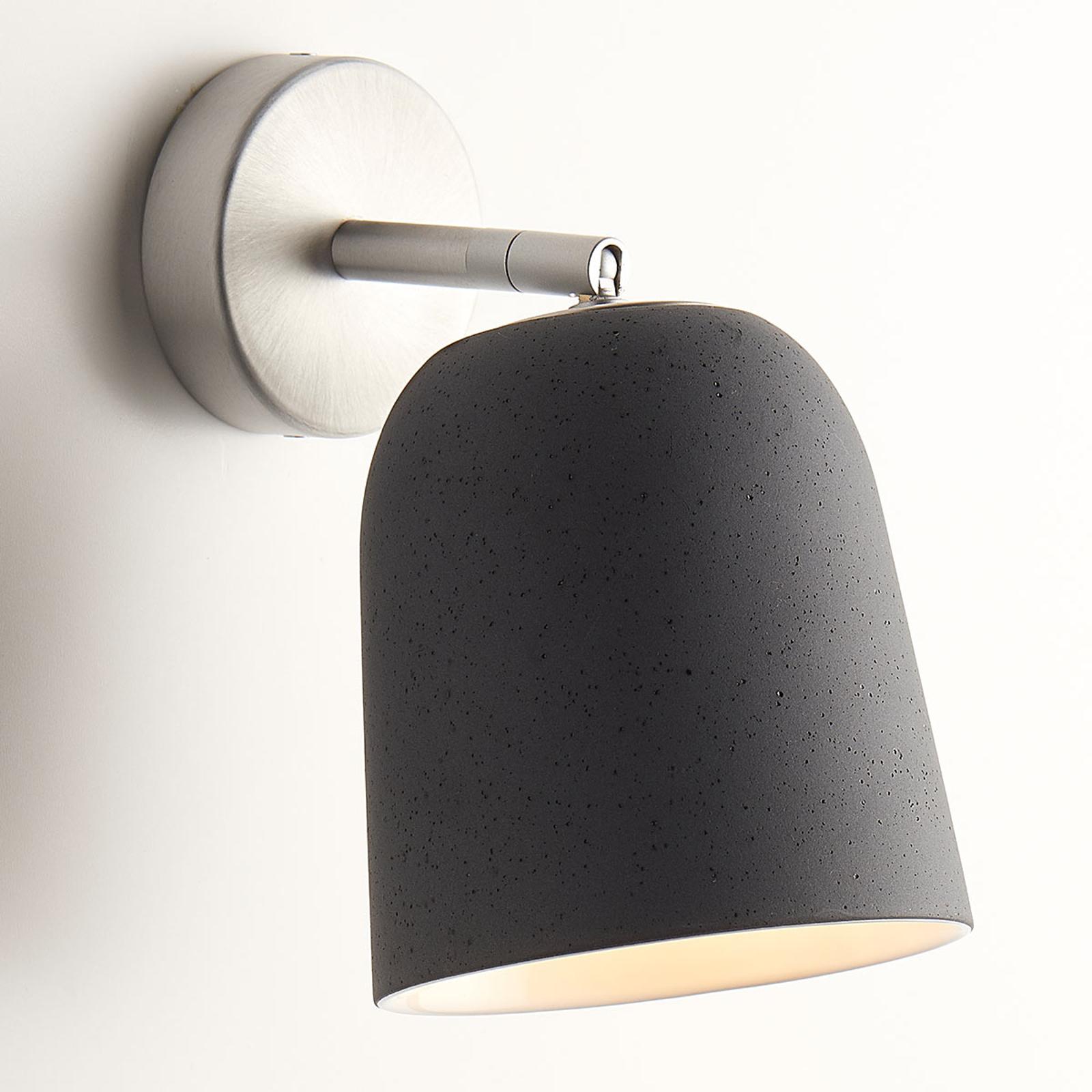 Casablanca Clavio - Keramik-Wandlampe, grau