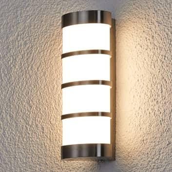 Aplique LED para exterior Leroy de acero inox
