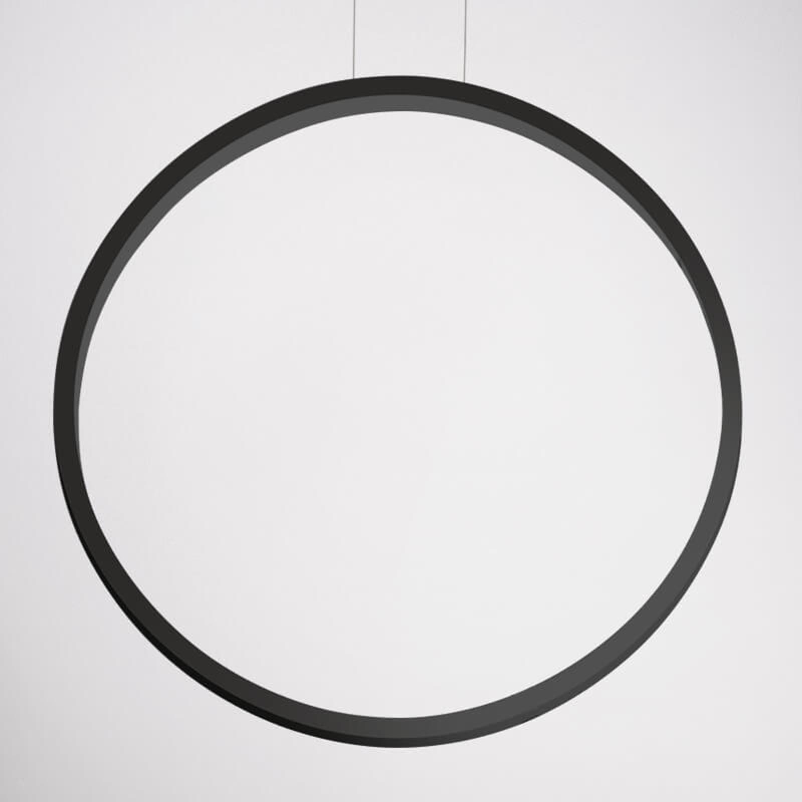 Czarna lampa wisząca LED Assolo, 70 cm