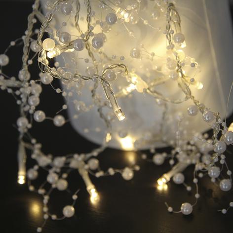 Vit LED-ljusslinga Pärla Garland