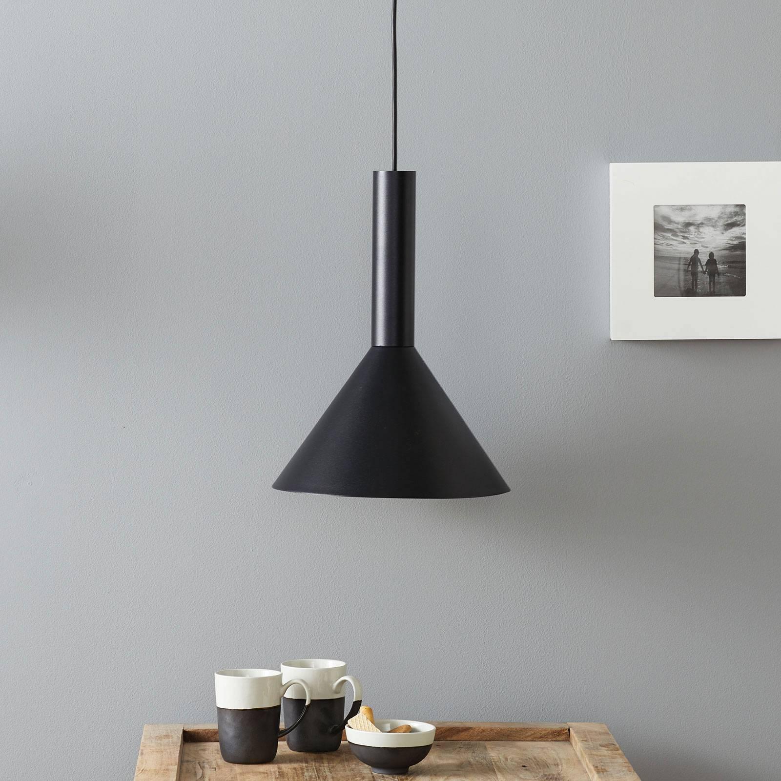 Lucande Caris hanglamp Ø30cm zwart/goud