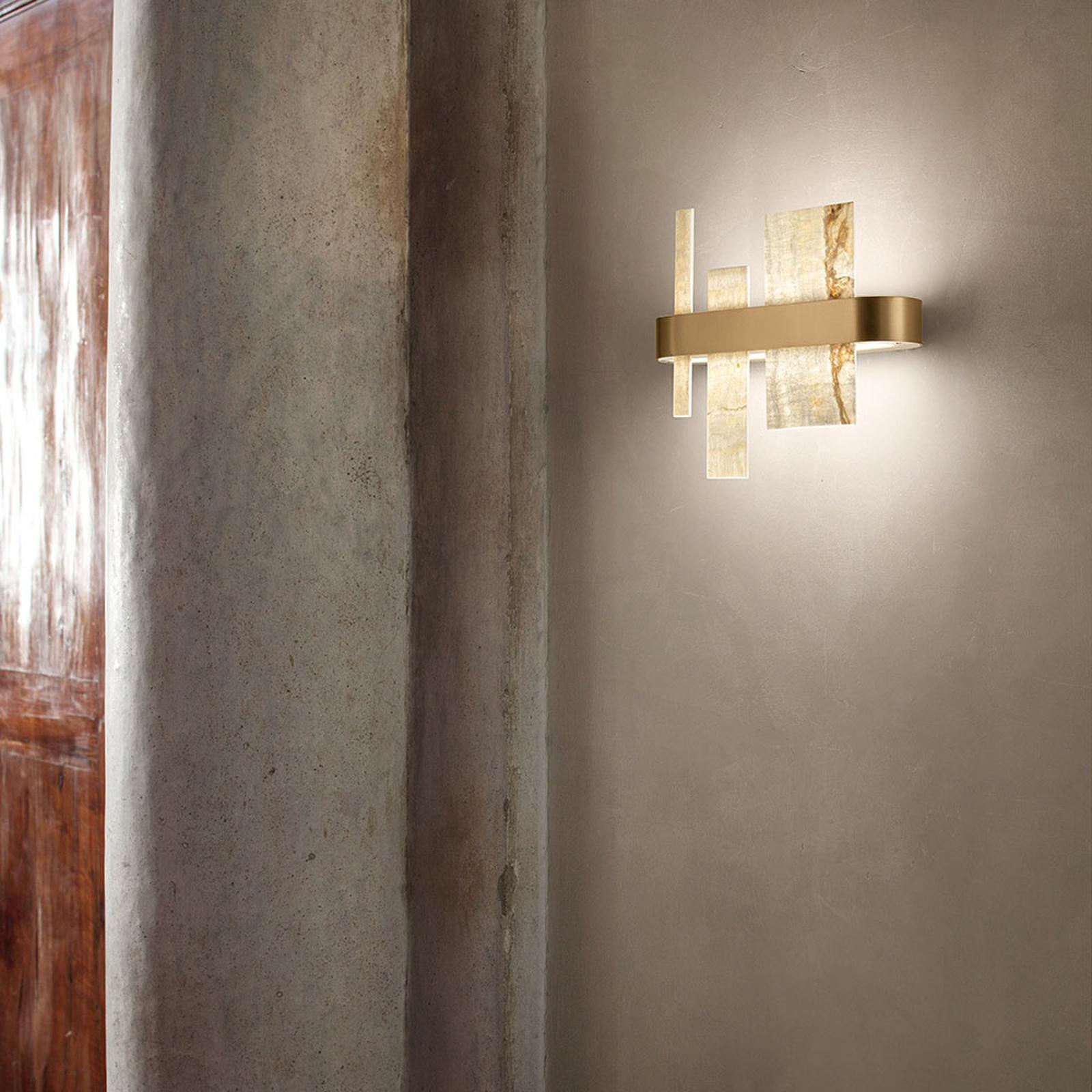Designerska lampa ścienna Honicé z LED, 37 cm