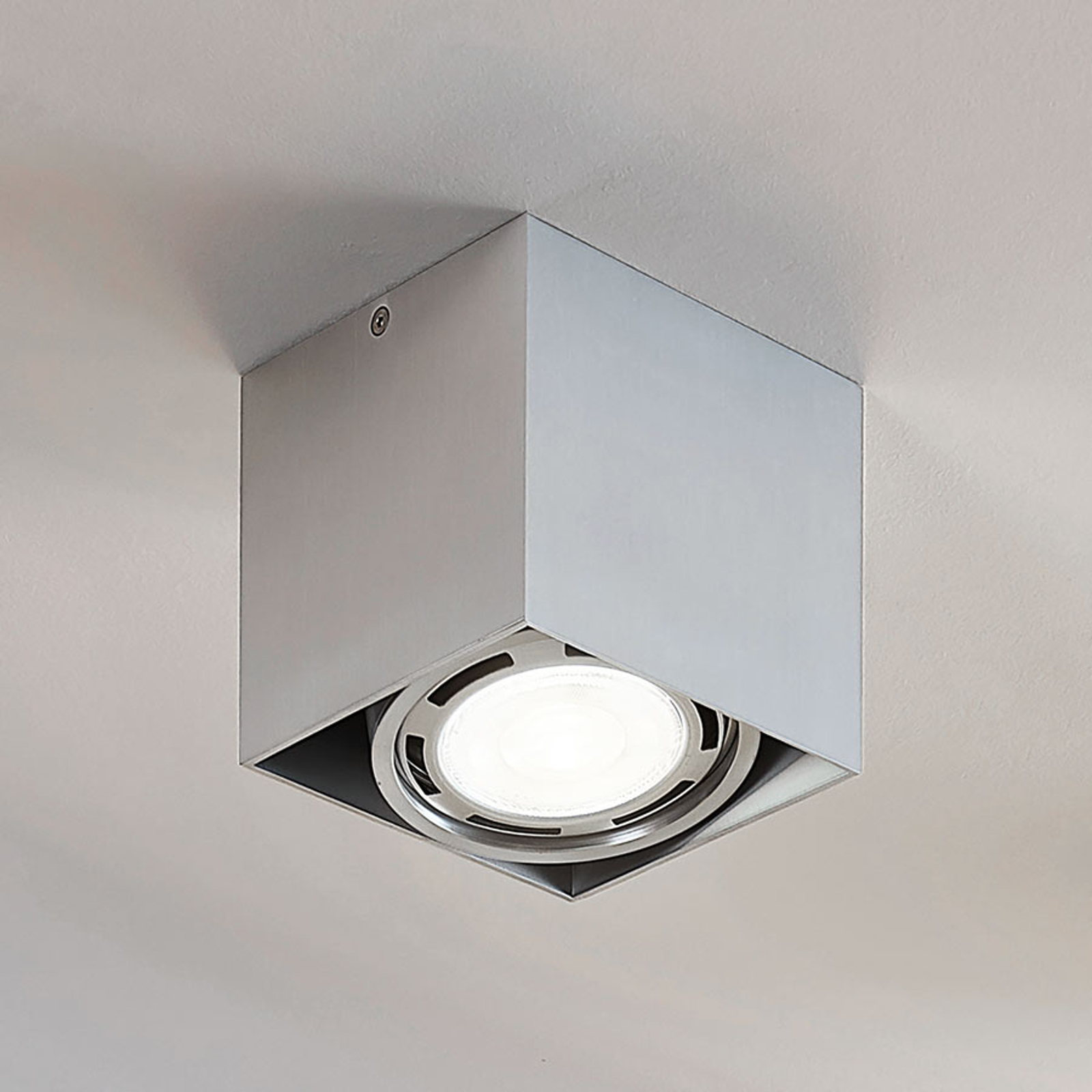 LED-Downlight Rosalie, dimmbar, 1-fl., eckig, alu
