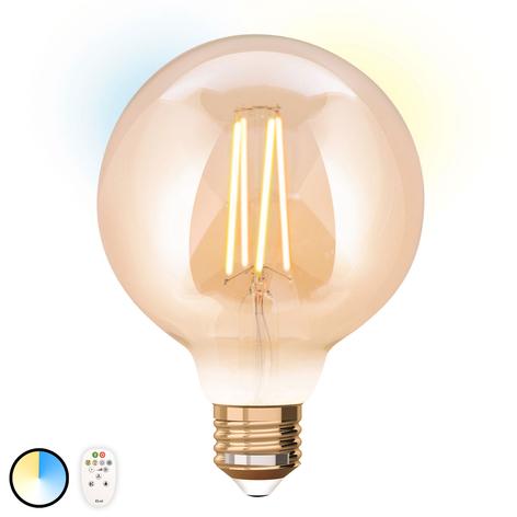 iDual-LED-lamppu E27 9W, sis. kaukosäätimen