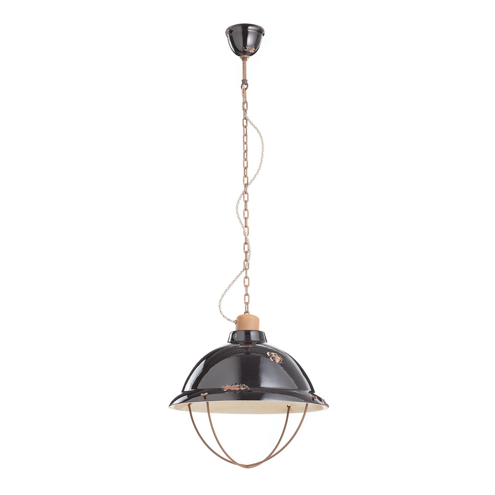 Lampa wisząca C1680 z ceramiki, czarna
