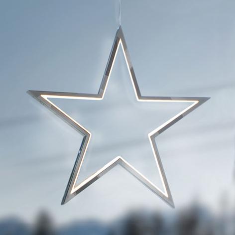 Aluminio cromado - estrella LED Lucy 34 cm