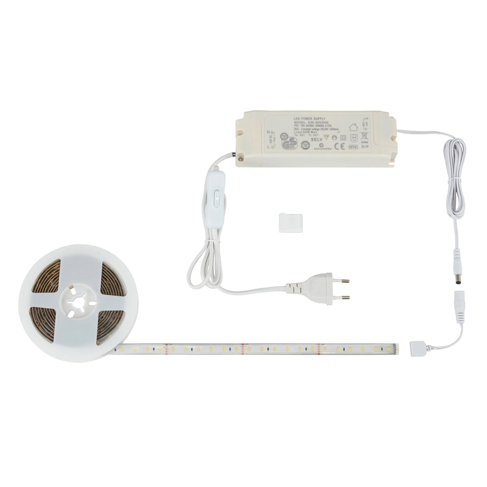 Universalhvit LED-stripe Rio, 3 m