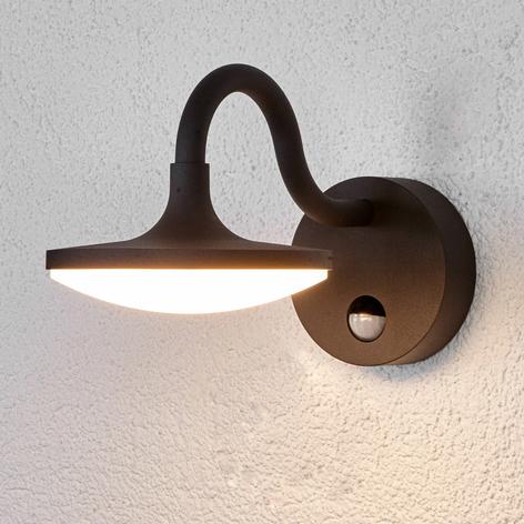 LED buitenwandlamp Finny met bewegingssensor