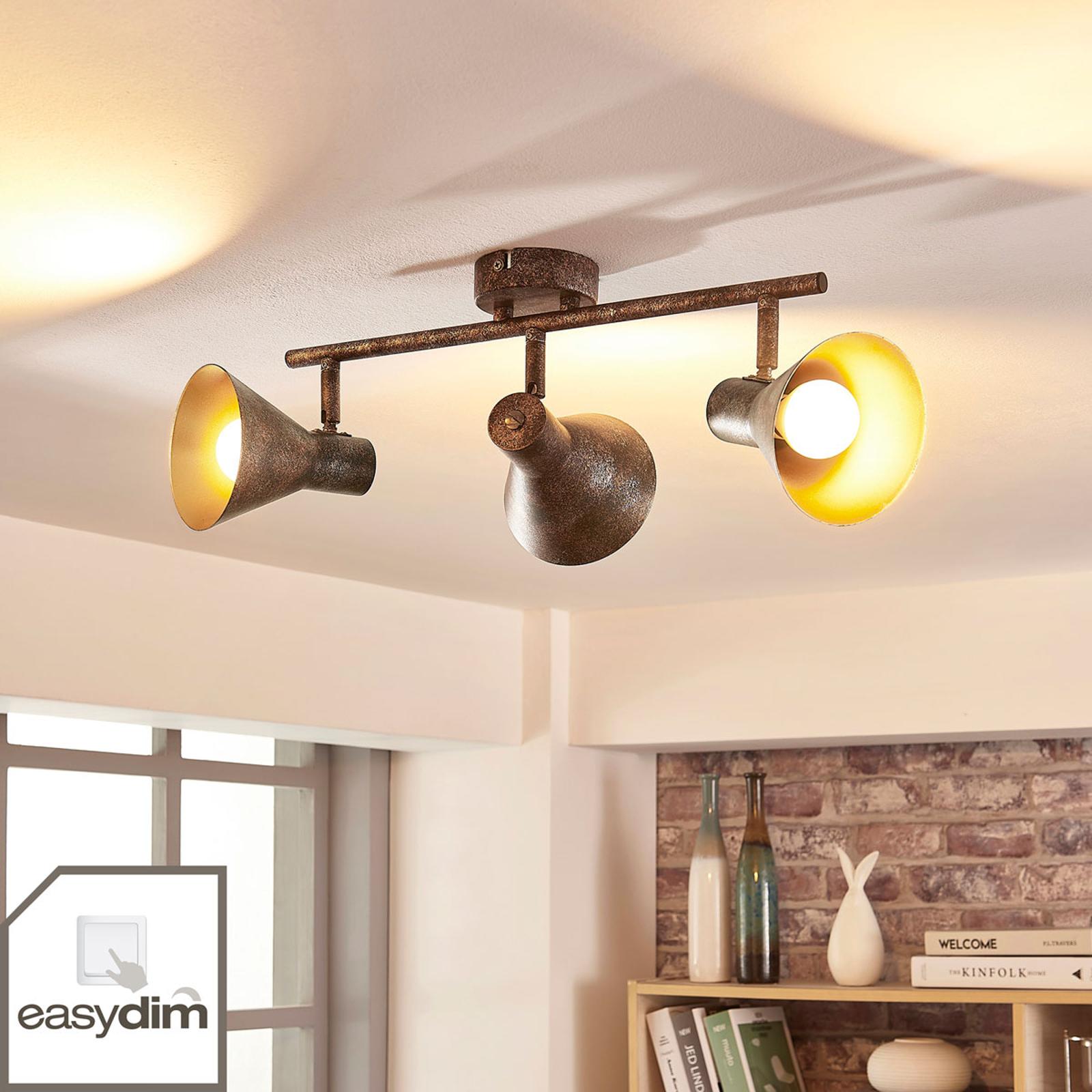 Zera - avlång LED-taklampa med Easydim-lampor