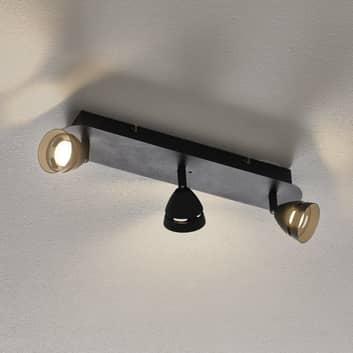 Trio WiZ Gemini stropní LED světlo 3žár. černé