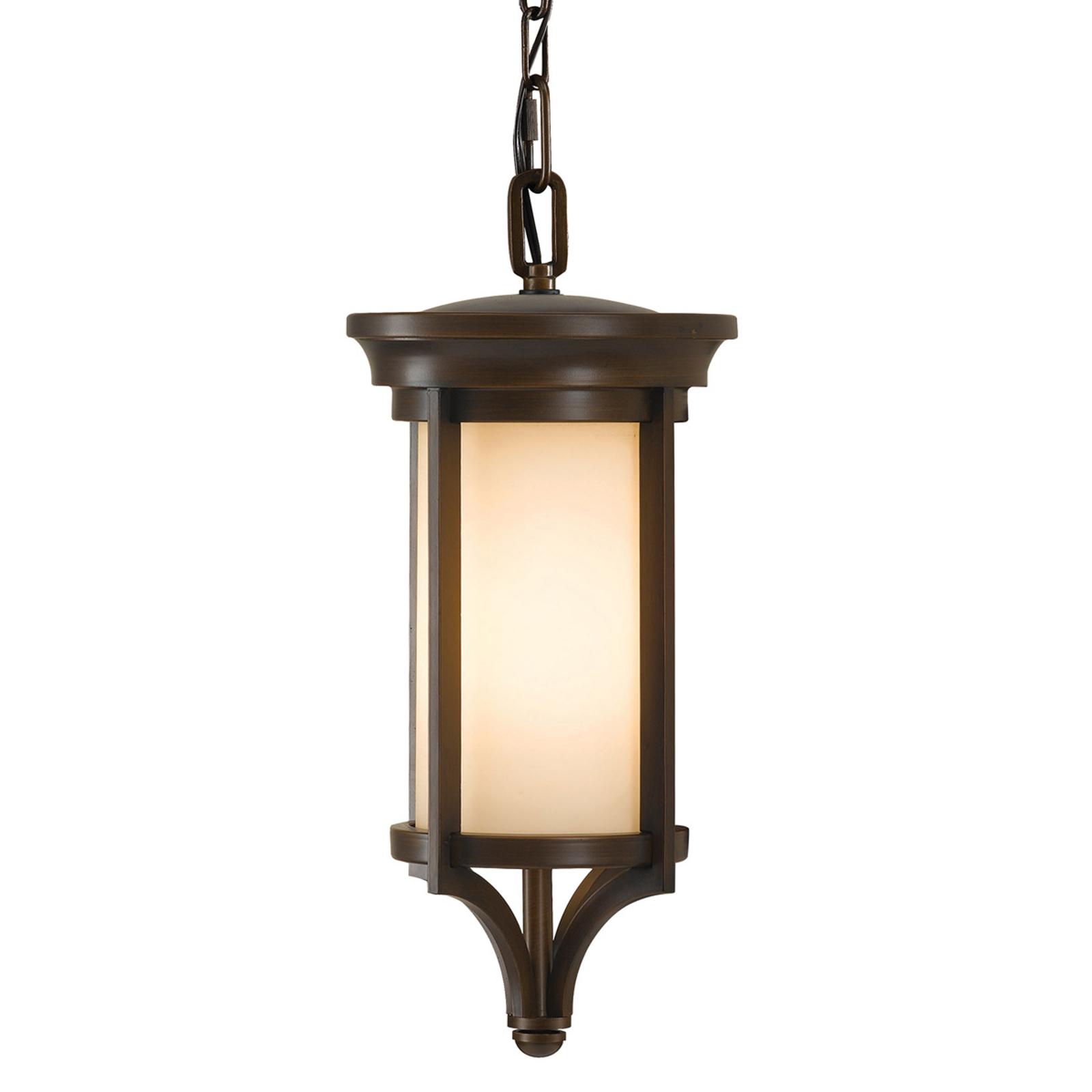 Závěsné světlo Merrill venkovní v bronzové barvě