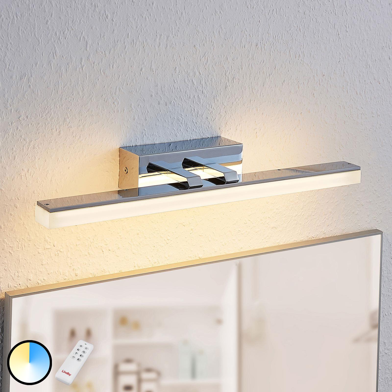 LED-spegellampa Bernie, CCT, IP44, 46 cm