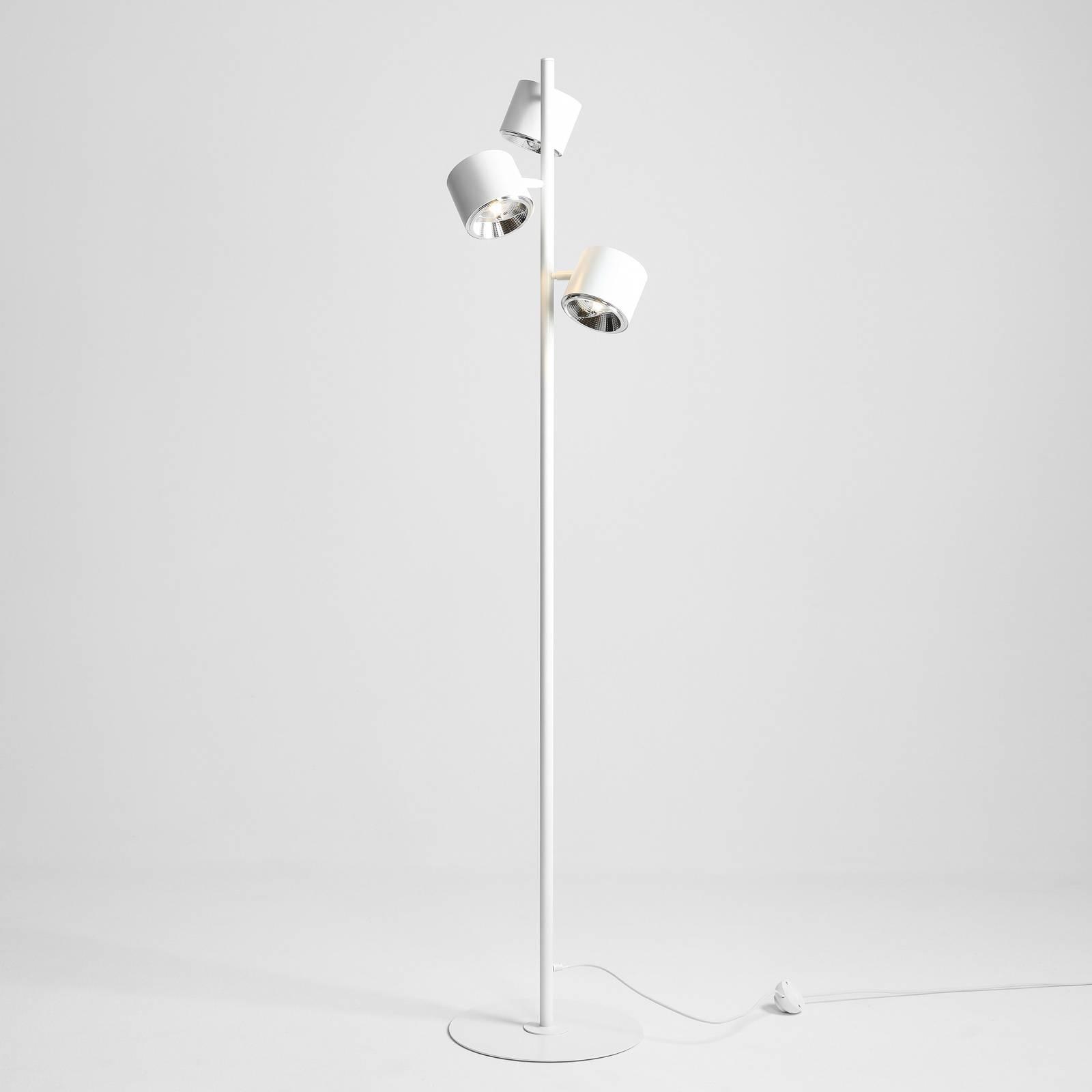 Lampadaire Bot blanc à trois lampes