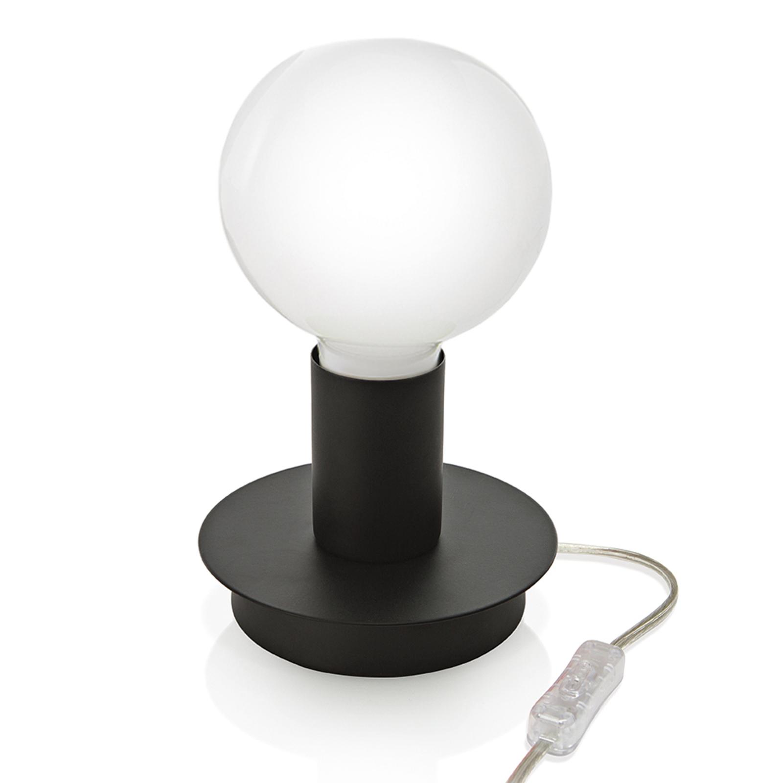 Puristische tafellamp Lumetto - zwart