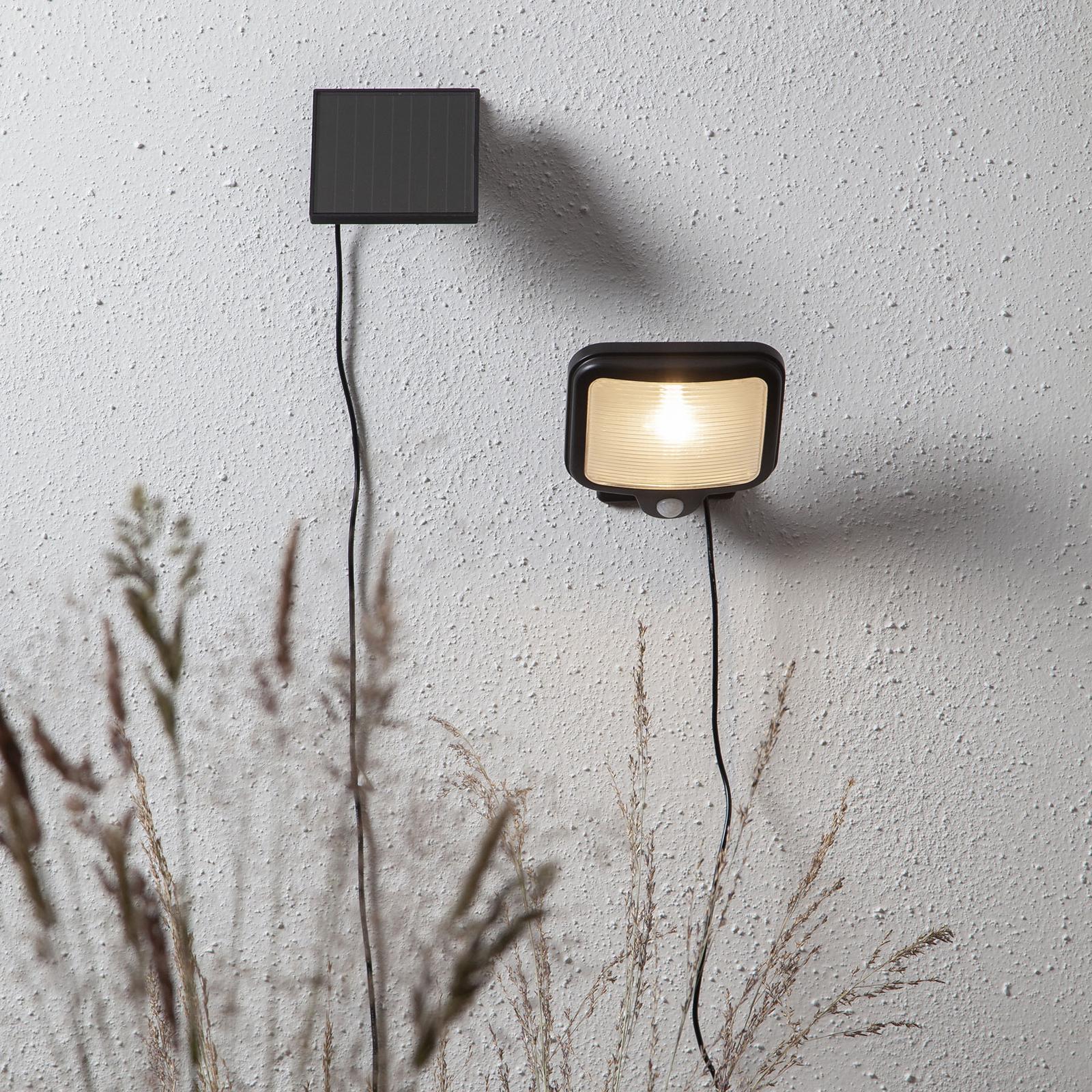 LED-sollampe Powerspot Sensor kantet svart 200
