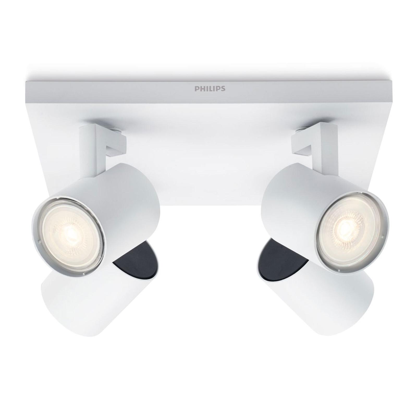 Philips Runner LED-Deckenleuchte weiß 4-flg.