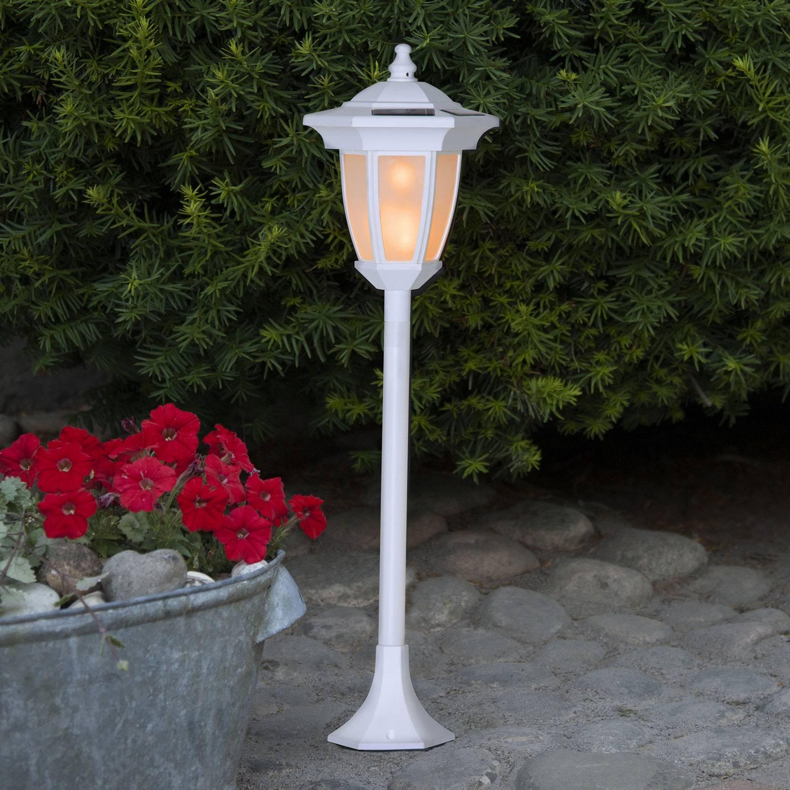 Lampa solarna LED Flame, 4 w 1, biała