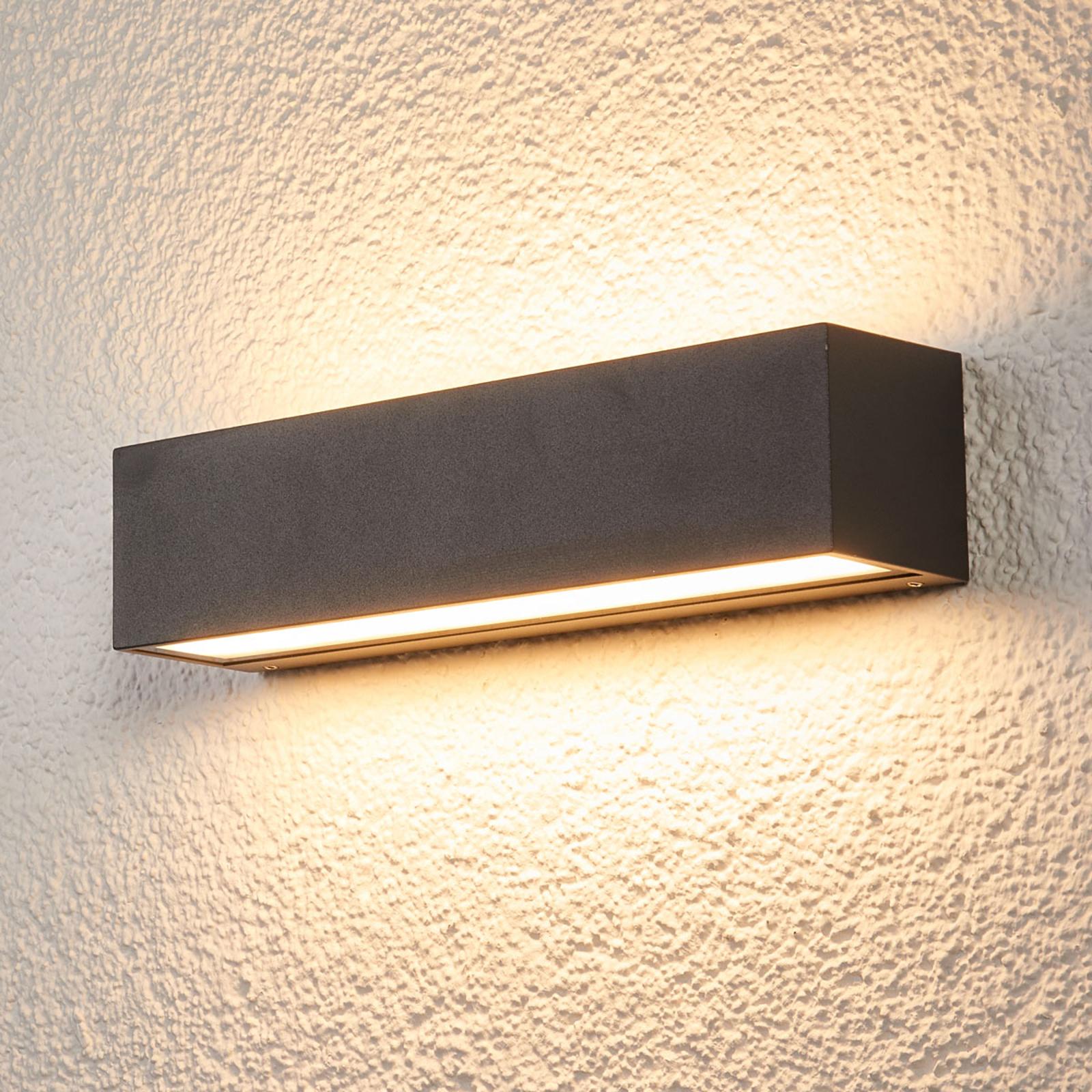 Tilde - oval LED-vegglampe til utebruk med IP65