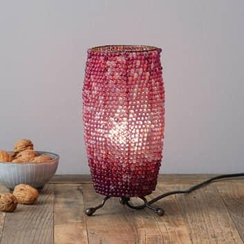 Tischleuchte Perla zylindrische Form Höhe 24 cm