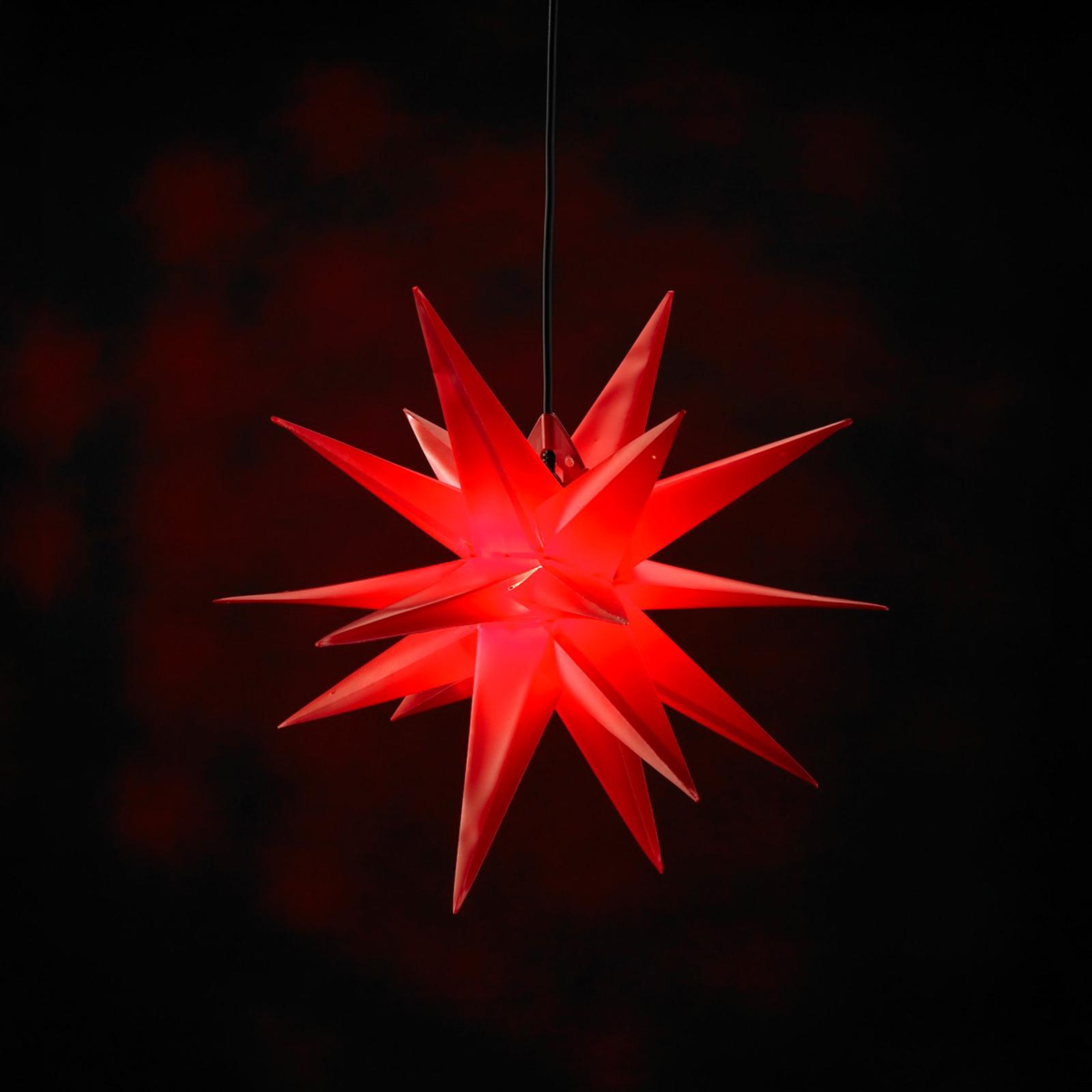 Estrella de plástico Jumbo de 18 puntas, rojo