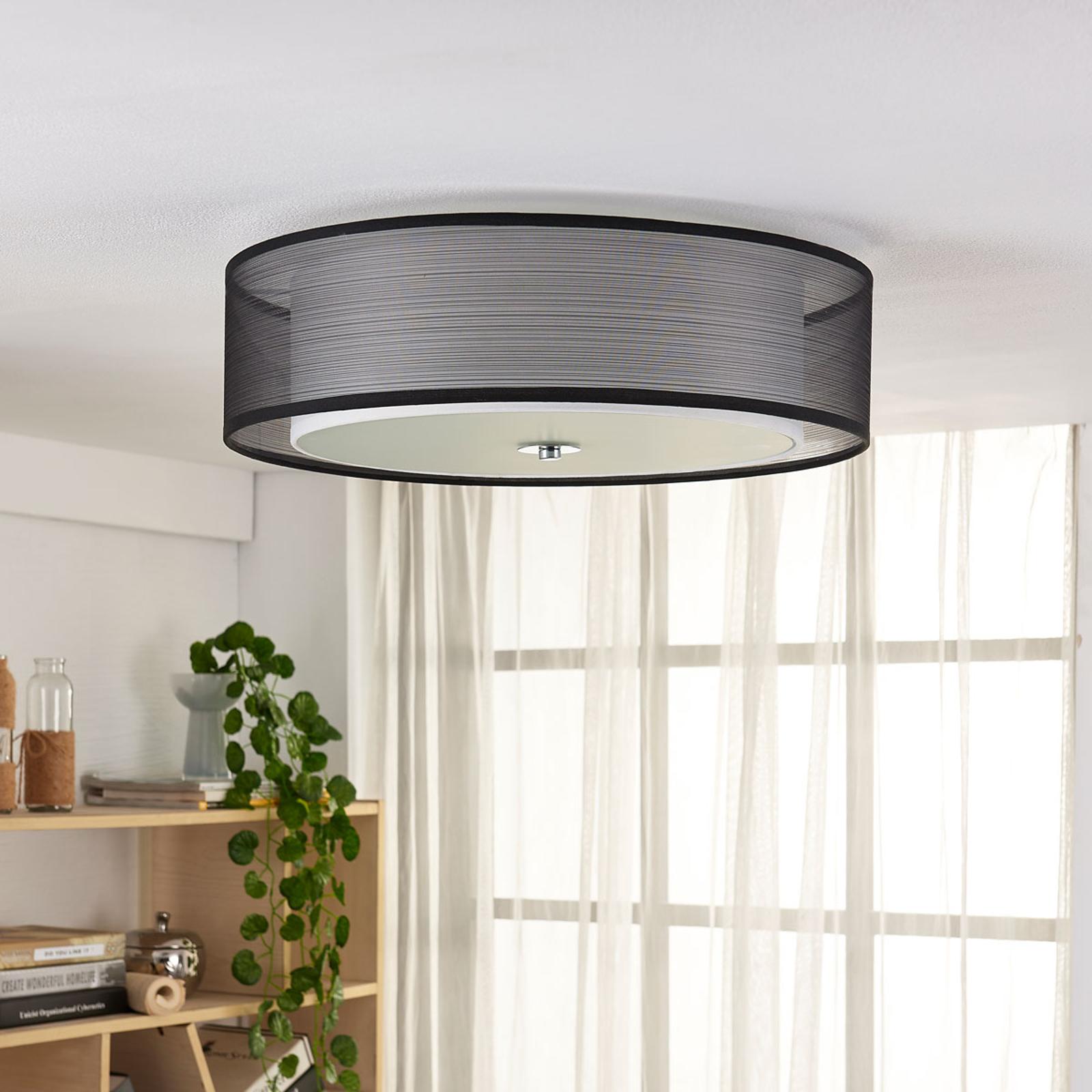 Easydim plafondlamp Tobia met organza kap, LED