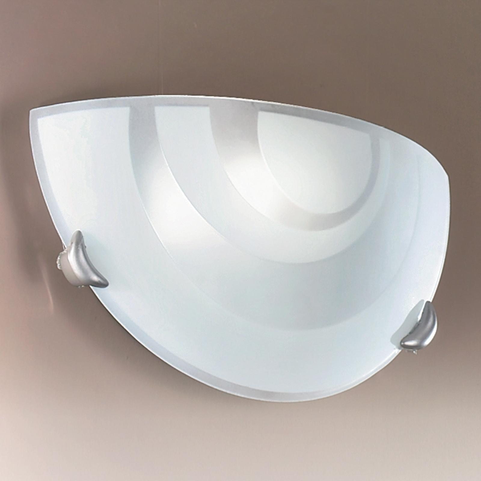 Halfronde wandlamp LORIA van opaalglas