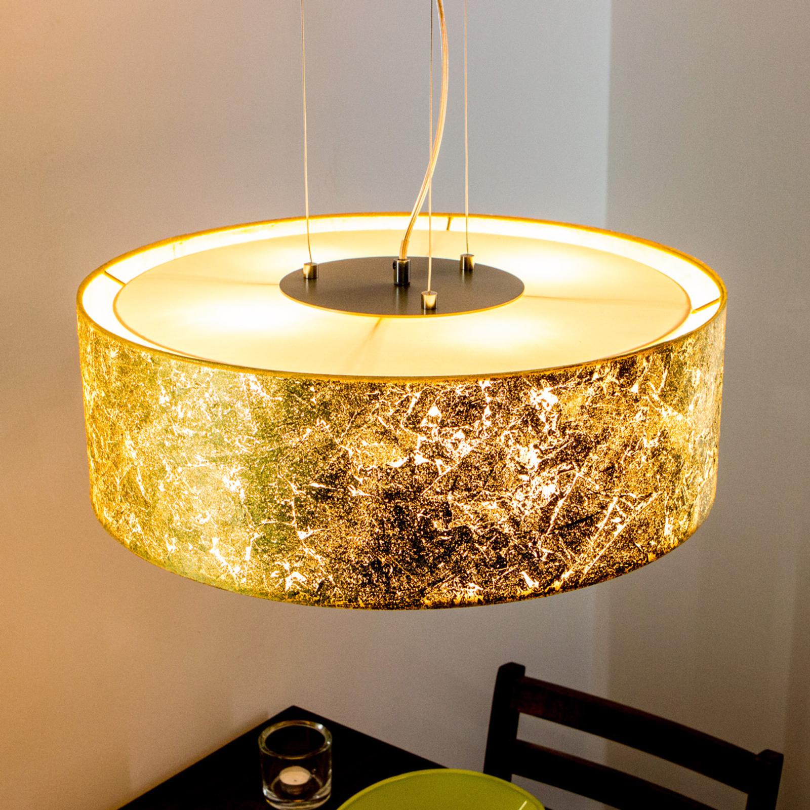 Gyllen pendellampe Aura - Made in Germany
