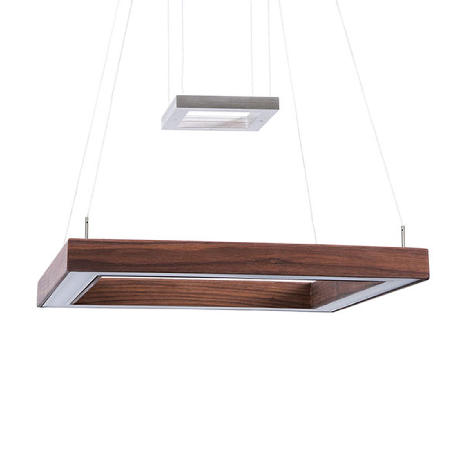 HerzBlut Leonora LED-hengelampe ClickDim valnøtt