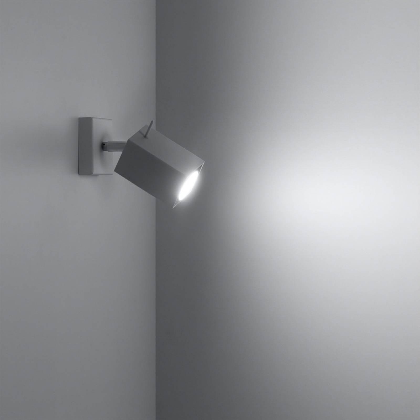 Reflektor ścienny Square, biały, 1-punktowy