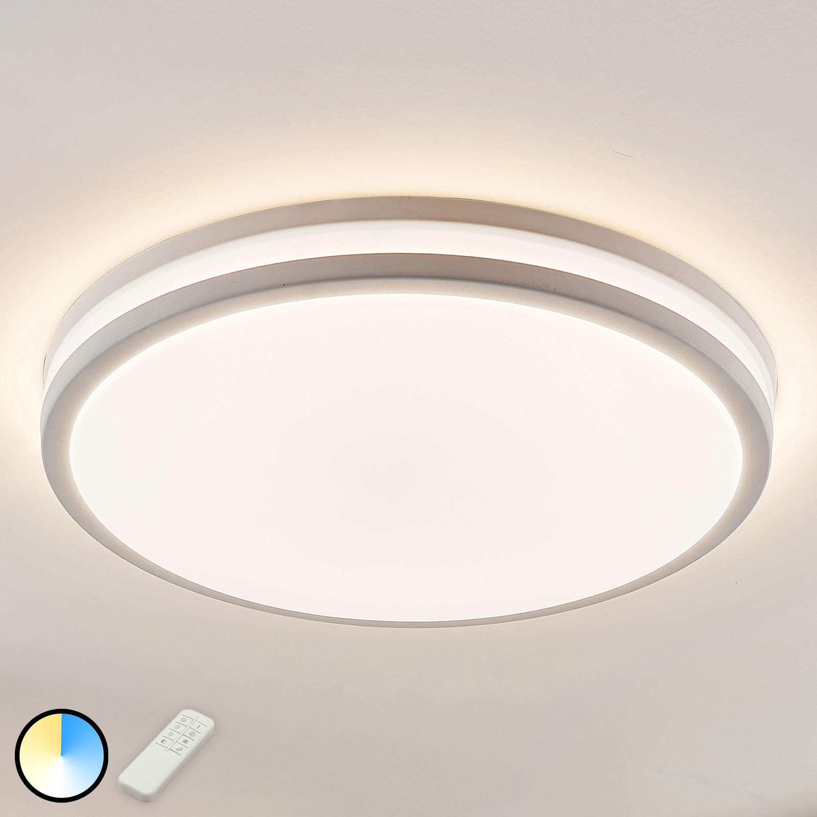 LED-loftslampe Arnim i hvid, rund form