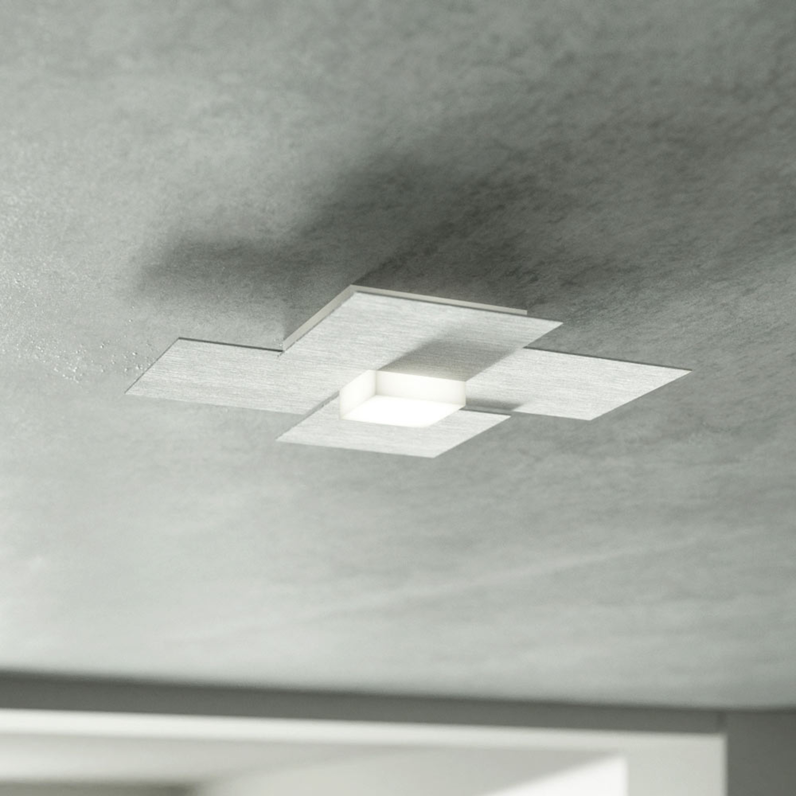 GROSSMANN Creo lampa sufitowa LED, aluminium