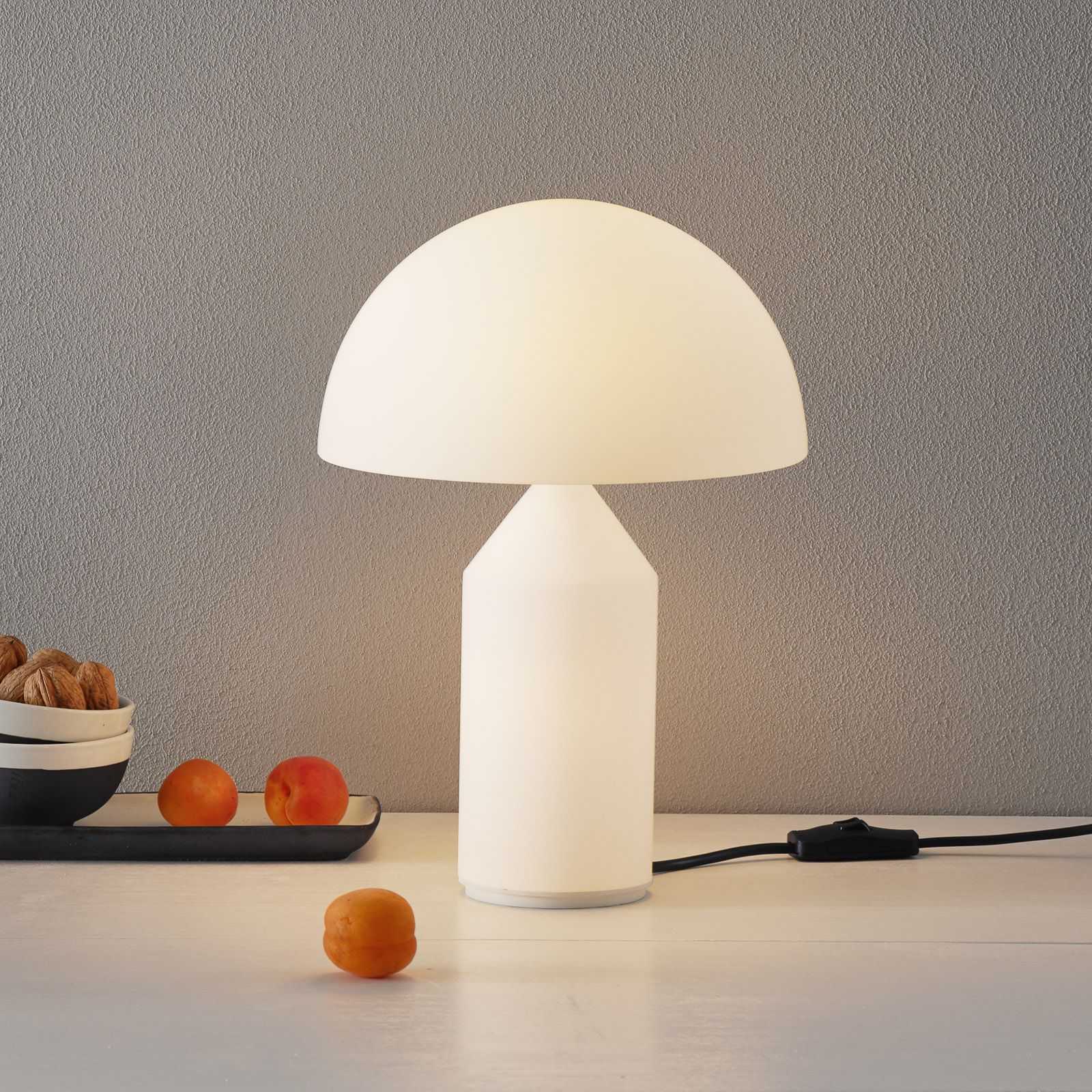 Oluce Atollo - lampe à poser verre Murano, 35cm