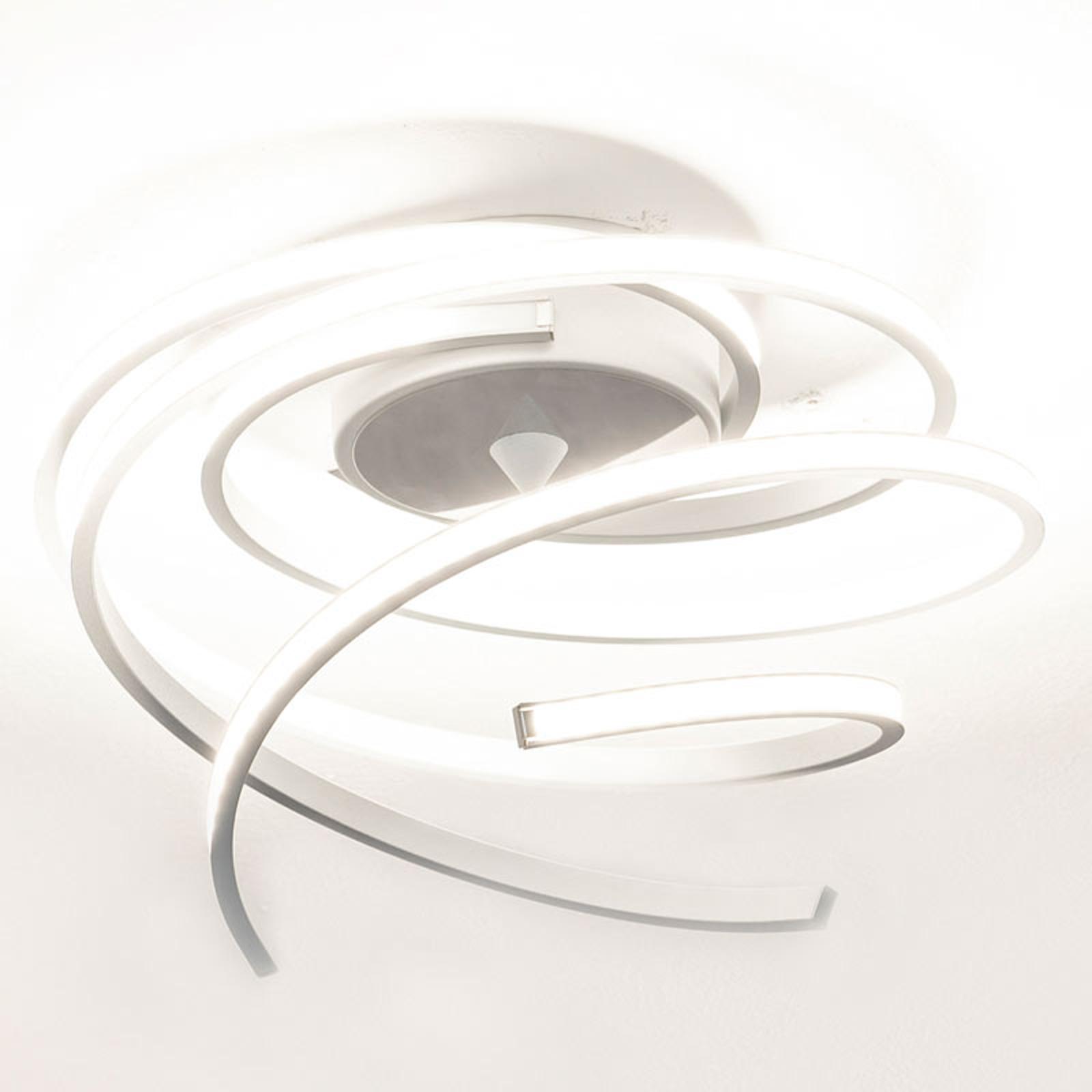 Plafoniera LED Lungo, alluminio, altezza 25 cm