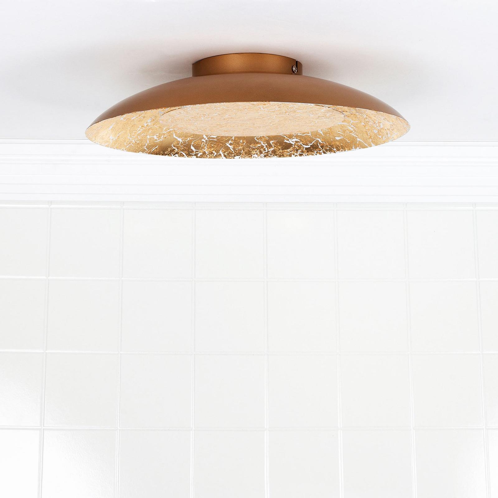 LED plafondlamp Foskal messing, Ø 34,5 cm