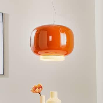 Foscarini Chouchin 1 -LED-riippuvalaisin, oranssi