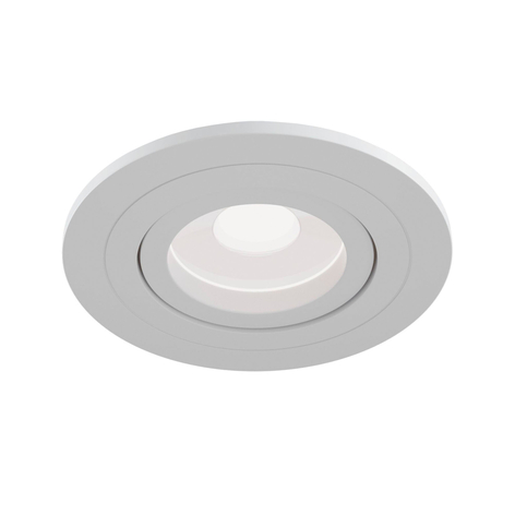 Downlight Atom, GU10, bianco, cornice rotonda
