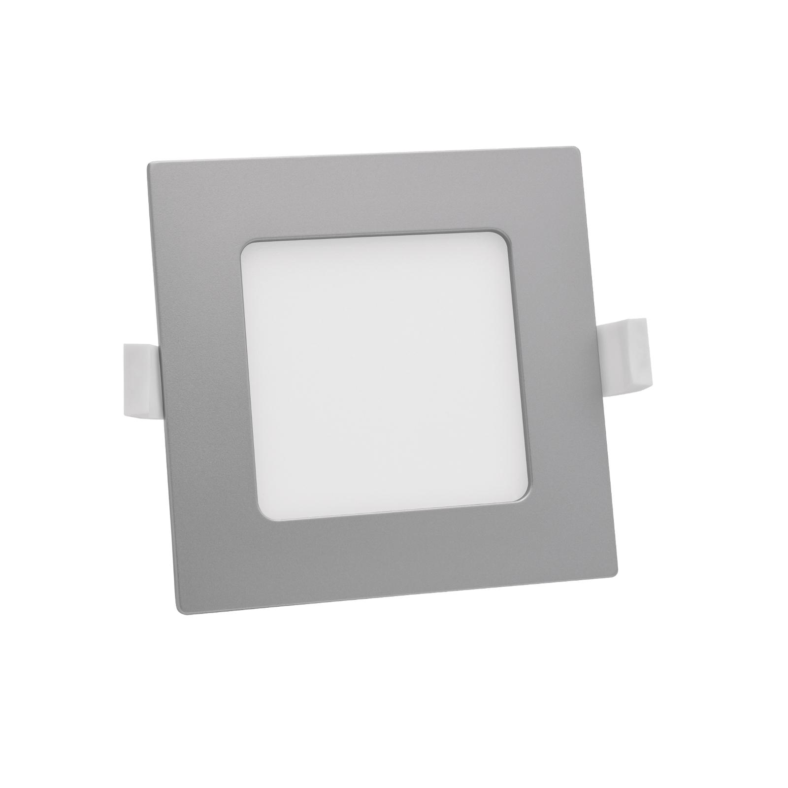 Prios Helina LED-Einbaulampe, silber, 11,5 cm