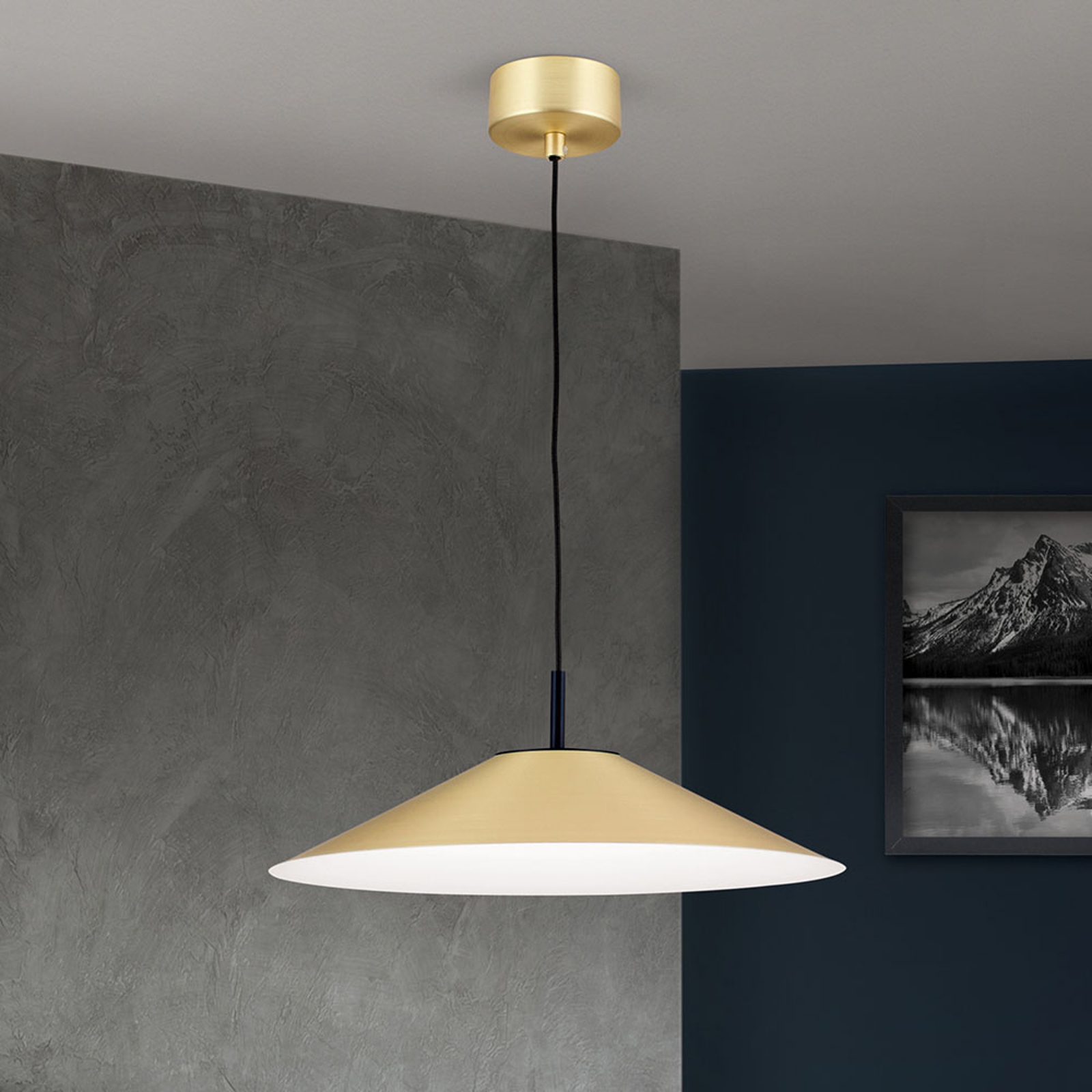 Suspension LED Gourmet, abat-jour laiton-mat