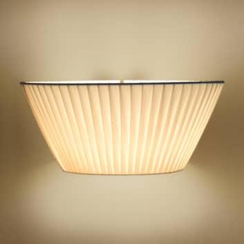 Gustowna lampa ścienna Emma beżowa, szer. 50 cm