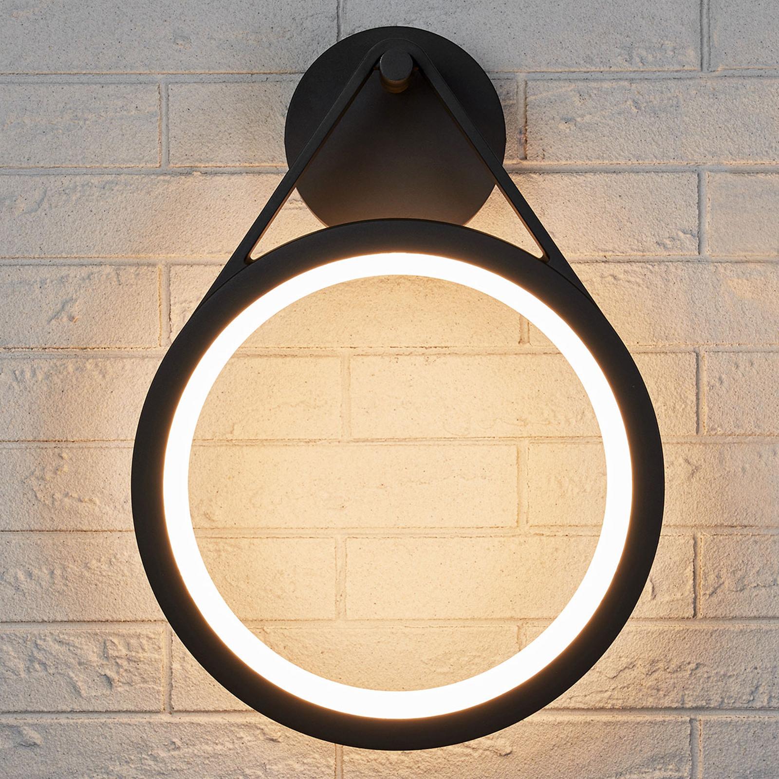 Aplique LED para exterior Mirco, anillo, IP65